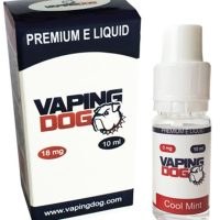 Vaping Dog cool mint